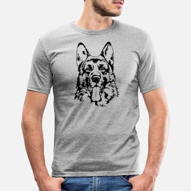 German Shepherd GERMAN SHEPHERD - GERMAN SHEPHERD Wilsigns - Men's Slim Fit T-Shirt