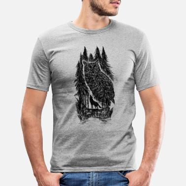 Black Forest Leible owl - Men's Slim Fit T-Shirt