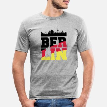City Berlin skyline2 - Men's Slim Fit T-Shirt