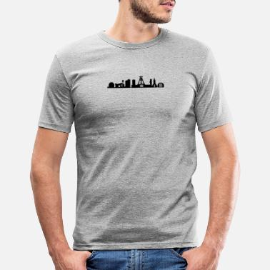 German Mining Museum Bochum skyline black - Men's Slim Fit T-Shirt