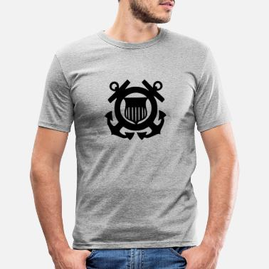 Guardia Costera Logotipo de la Guardia Costera - Camiseta ajustada hombre