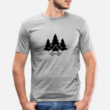 Fire campfire forest 1 - Men's Slim Fit T-Shirt
