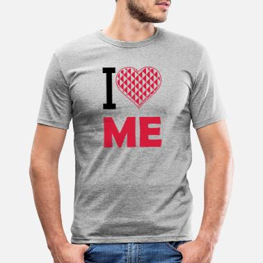 I Heart i love me 2 - Men's Slim Fit T-Shirt