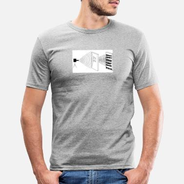 Experiment Doppelspalt-Experiment - Männer Slim Fit T-Shirt