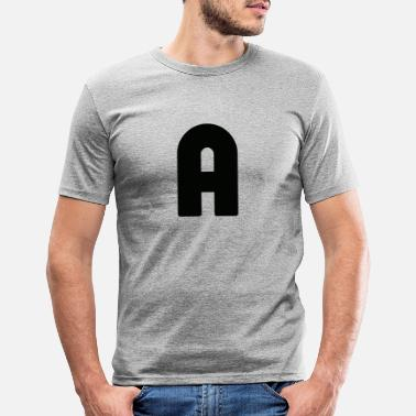 Alphabet A, alphabet - Men's Slim Fit T-Shirt