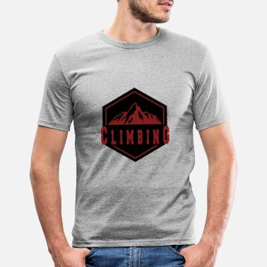 Mountain Climbing Climbing in the mountain - climbing in the mountains - Men's Slim Fit T-Shirt