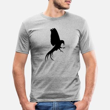 Caribbean bird silhouette - Men's Slim Fit T-Shirt