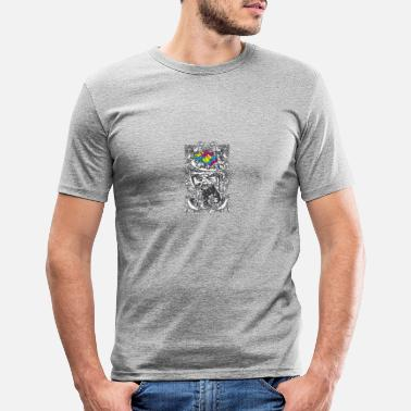 Stylish Skull - Scream - Art - Modern - Stylish - Men's Slim Fit T-Shirt