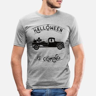 Halloween Camionnette halloween - T-shirt moulant Homme