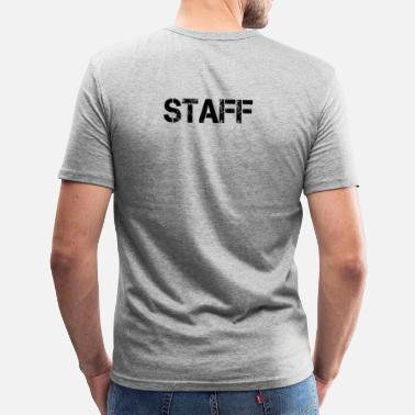 Staff Personal Personal Staff Crew Bouncers Security - T-shirt slim fit herr