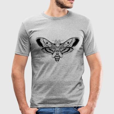 Death-Head-Moth / Tattoo Style - Männer Slim Fit T-Shirt