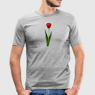 Red tulip - Men's Slim Fit T-Shirt