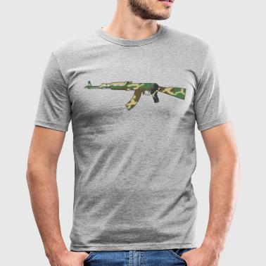 AK47 Camouflage - Slim Fit T-skjorte for menn