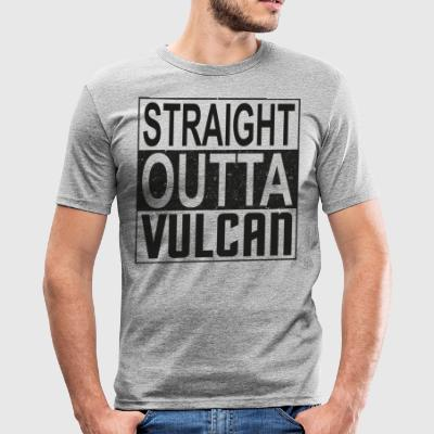 Straight Outta Vulcan (dark) - Men's Slim Fit T-Shirt