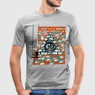 graffity Fassade - Männer Slim Fit T-Shirt