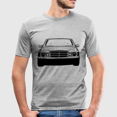 Benz W201 Silhouette - Männer Slim Fit T-Shirt
