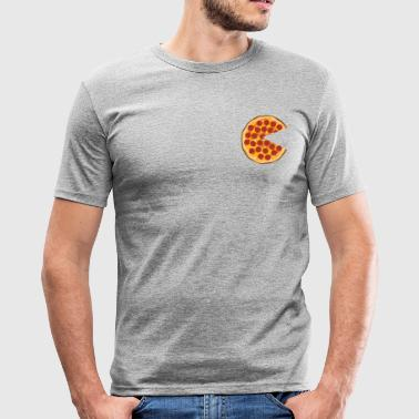 Pizza Salami Maaltijden Ronde idee - slim fit T-shirt