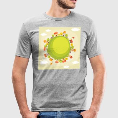 natur huser træer planet - Herre Slim Fit T-Shirt