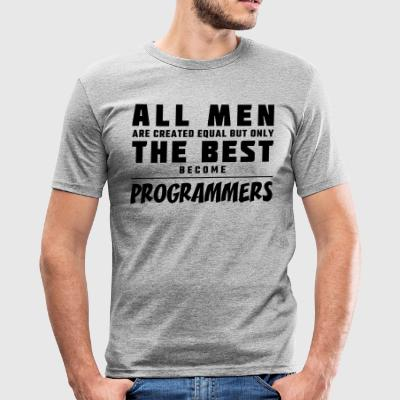 All men are created equal - programmers - Men's Slim Fit T-Shirt