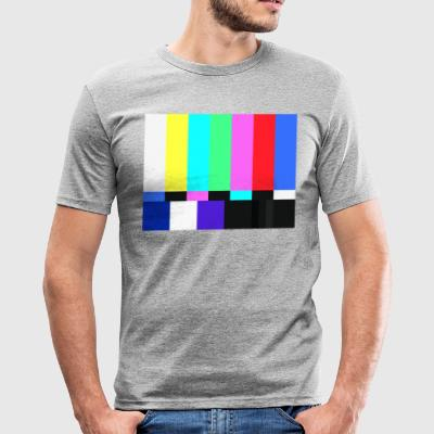 Test Card.Test Pattern. Retro Crew.SALE TV - Maglietta aderente da uomo