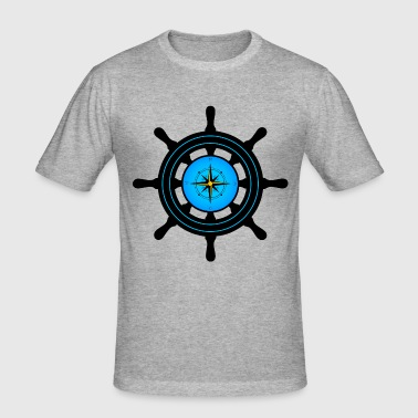 ships wheel - Men's Slim Fit T-Shirt