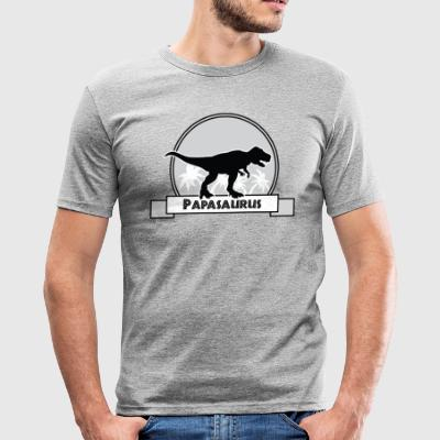 Papasaurus - Männer Slim Fit T-Shirt