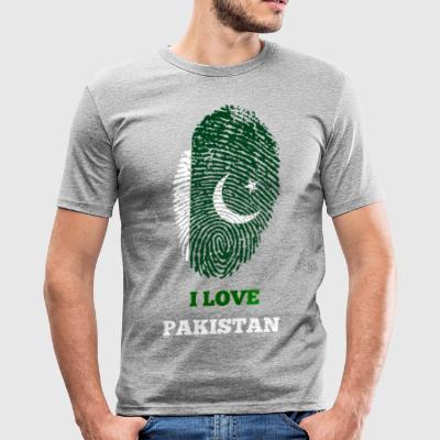 I LOVE PAKISTAN - Slim Fit T-skjorte for menn