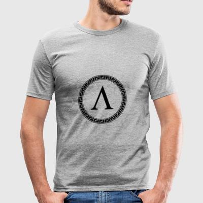 Spartaanse Lambda Symbool - slim fit T-shirt