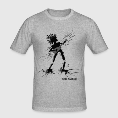 Shred - Sonic Warrior guitarist and axe hero - Men's Slim Fit T-Shirt