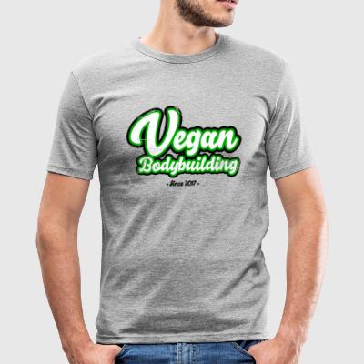Vegan Bodybuilding design på forsiden - Herre Slim Fit T-Shirt