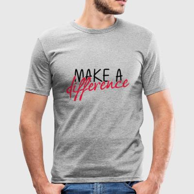 make- - Slim Fit T-shirt herr