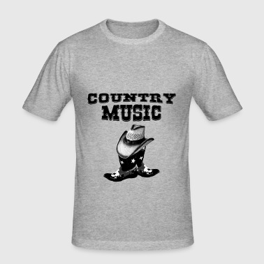 country music - Männer Slim Fit T-Shirt