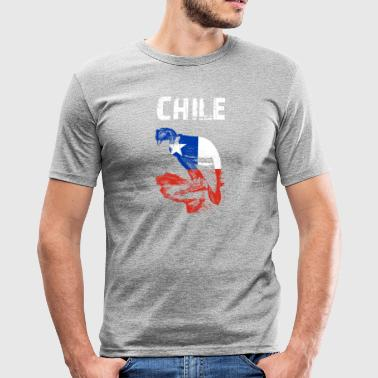 Nation Design Chile Condor fTtu - Men's Slim Fit T-Shirt