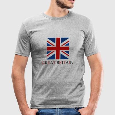 Storbritannien flag - Herre Slim Fit T-Shirt