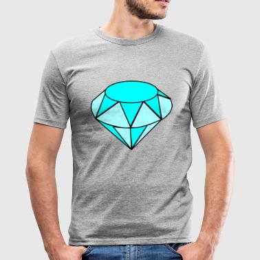 Blå diamant - Herre Slim Fit T-Shirt