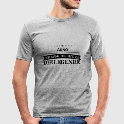 Mythos Legende Vorname Arno - Männer Slim Fit T-Shirt