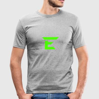 E for smaragd - Slim Fit T-skjorte for menn