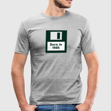 Geboren in 1986 floppy disk - slim fit T-shirt
