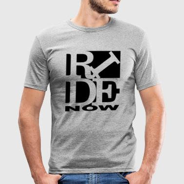 ride now Homage to Robert Indiana ride black out - Men's Slim Fit T-Shirt