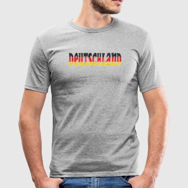 Deutschland flag kristall - Slim Fit T-shirt herr