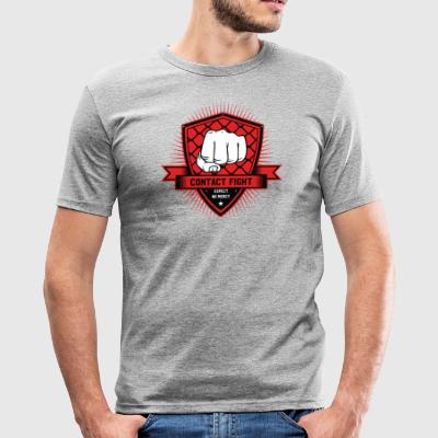 Contact Fight Classic - Männer Slim Fit T-Shirt