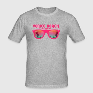Venice Beach Los Angeles - Slim Fit T-skjorte for menn