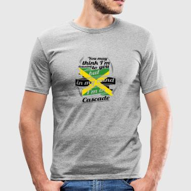 HOLIDAY JAMESICA ROOTS TRAVEL IN Jamaica Cascade - Men's Slim Fit T-Shirt