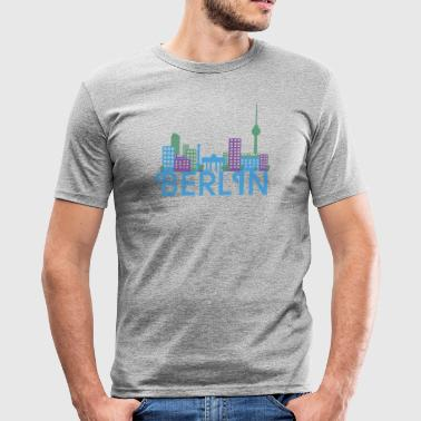 Skyline of Berlin - Men's Slim Fit T-Shirt