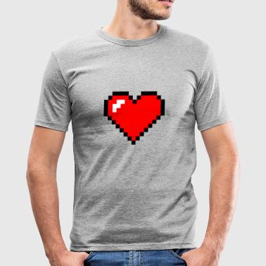 pixel heart - slim fit T-shirt