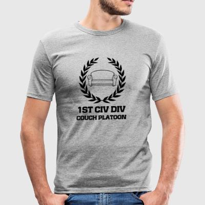 Civil Division Couch Platoon Veteran - Herre Slim Fit T-Shirt