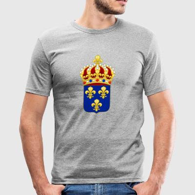 New France emblem, heritage - Men's Slim Fit T-Shirt