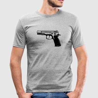 CZ75B 9mm Pistole - Männer Slim Fit T-Shirt