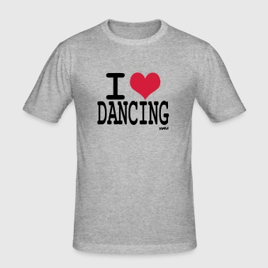 i love dancing by wam - Camiseta ajustada hombre