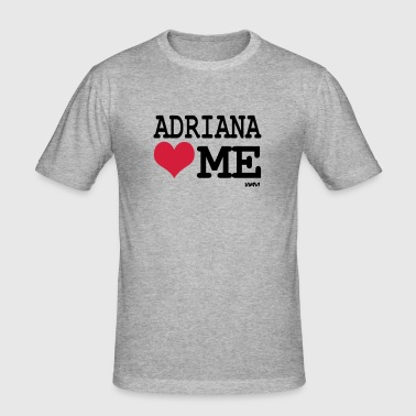 adriana loves me by wam - T-shirt près du corps Homme